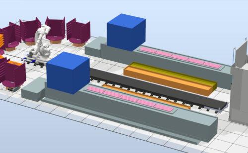 Automatická brousící linka s typovými stroji