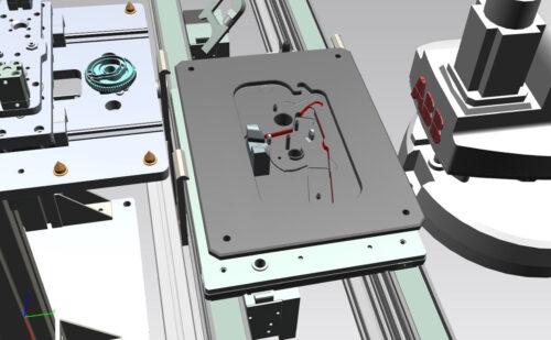 Robotické zakládání dílů do montážní paletky